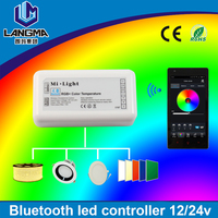 smartphone app controlled DC12/24v 5CH 6A color changing with music bluetooth led rgbw controller timer