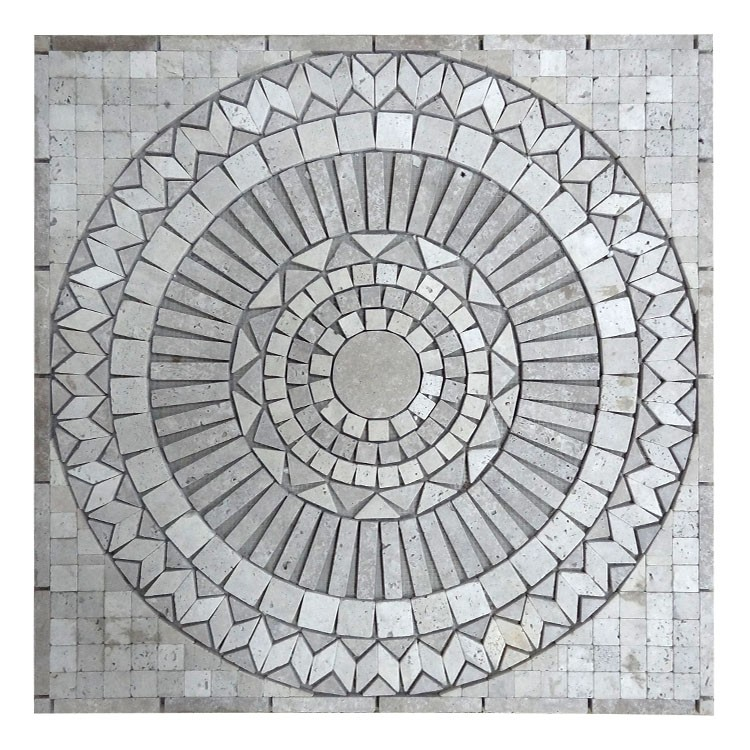 yixing kb stone interior design round marble mosaic medalion