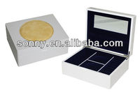 Luxury Special Round PU leather Design Gem Box With Logo