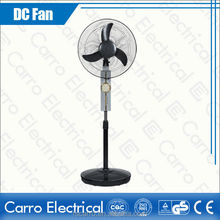 outdoor/indoor low power consumption 12 volt rechargeable stand fan