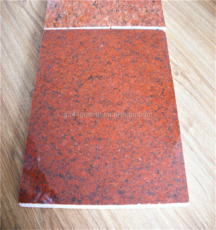Chinese red granite Dyed Red Good for Countertop Kitchen and Tile Bathroom