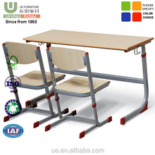 Wholesale School Furniture Double classroom student desk and chair