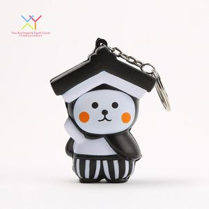 Kawaii japan character custom promotion keychain stress ball, lovely pu foam stress ball