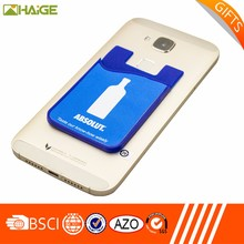 Wholesale Adhesive Silicone Smart Cell Phone Wallet and silicone card holder
