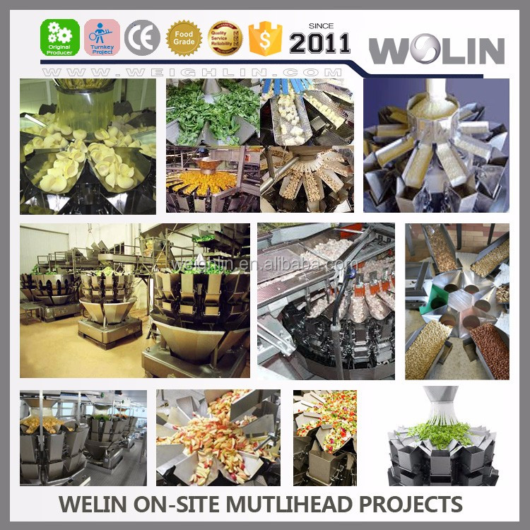 Factory supply intelligent 10Head 14head multihead combination weigher for fresh frozen meat chicken pork beef wings