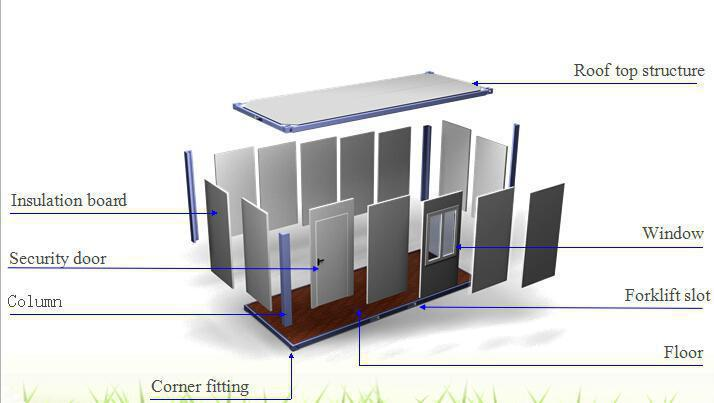 modular modified shipping container office home