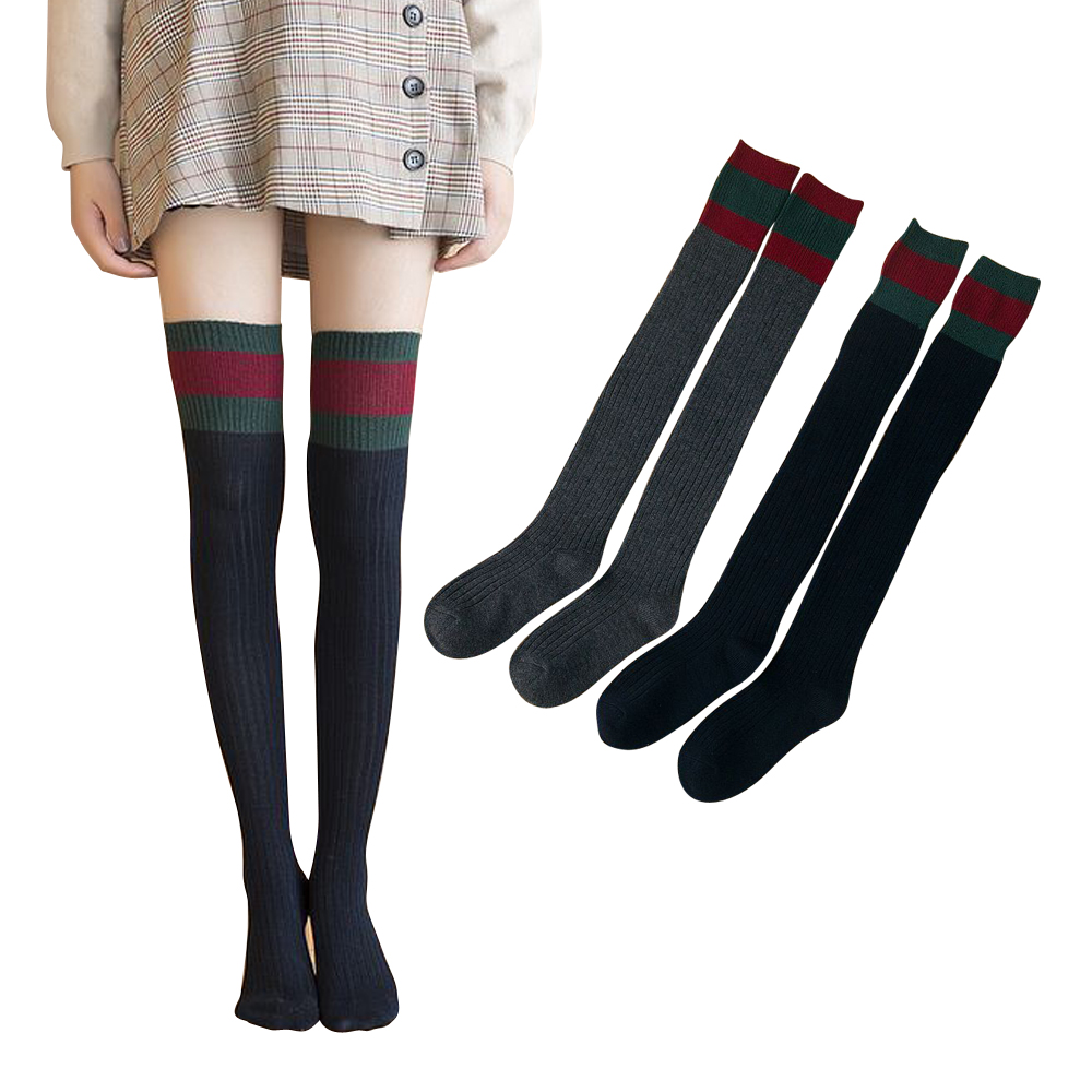 2017 Cheapest Stocking 2 Pairs Keep Warm Knee Long Sock Autumn Slim Stocking for Girl in Skirt Dress Japanese Stocking