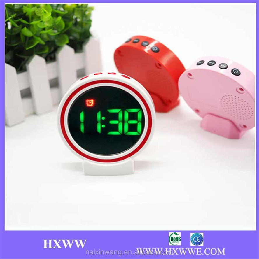 2017 High Quality Cheap New Innovative Mini Promotion Gift Portable Cute Mirror Bluetooth Speaker WIth Watch, Alarm Clock