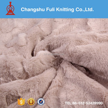 textile fabrics pattern PV plush brushed fabric with competitive price