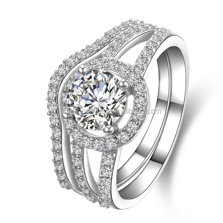 solid silver micro pave cz latest wedding ring designs