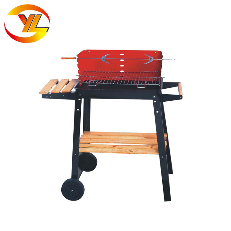 Foshan factory garden rectangle simple Charcoal Outdoor Korean BBQ Grill Table
