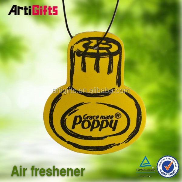 Classic style absorbent paper air freshener green world