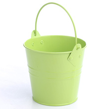 bright color small metal flower pot for party favor&party supplier&party decoration