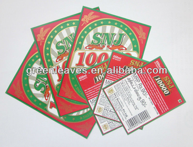 Wetstrength paper for beer labels