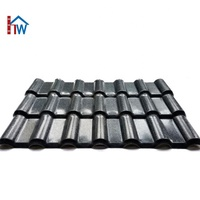 Villa building material asa synthetic resin Spanish pvc roofing tile