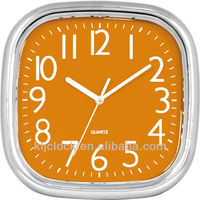 Table Clock Wall WH-6846A Slivery Frame