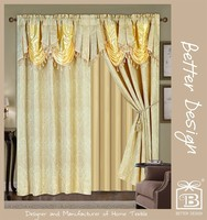 Luxury Gold India style Valance Curtains Drapery Made in China