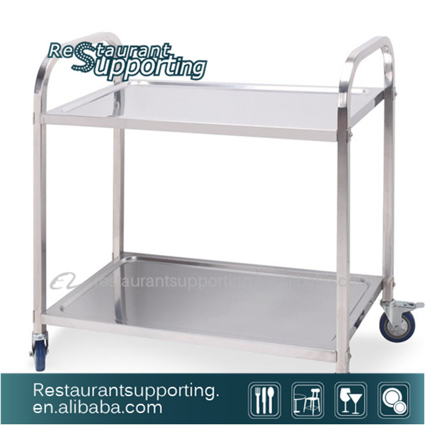 Famous Stainless Steel Food Dining Serving Cart With Wheels