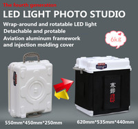 Portable and durable LED wrap-around photo studio