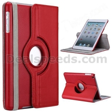 360 Rotatable Side Flip Stand PC+PU Leather Case for iPad Mini 4