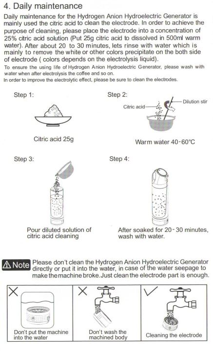 Hydrogen water maker/ Hydrogen-rich water generator/Alkaline and hydrogen water cup