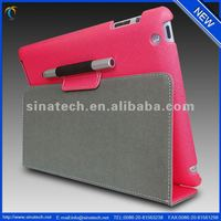 Smart PU Leather Cover Folio Tablet Flip Stand Case for iPad Air with pen socket