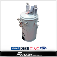 hot supply wounded core single phase 25kva electric pole transformer