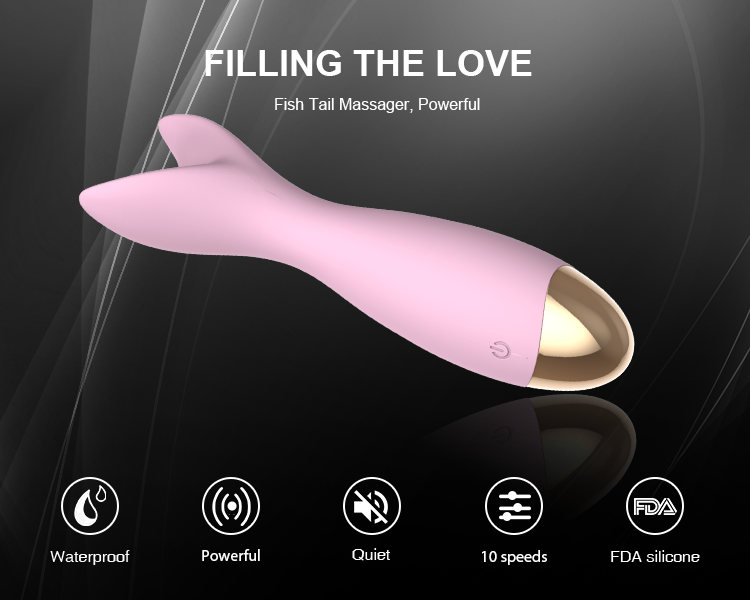 Fish Tail Massager Silicone Sex Toys Two-Way Vibrator