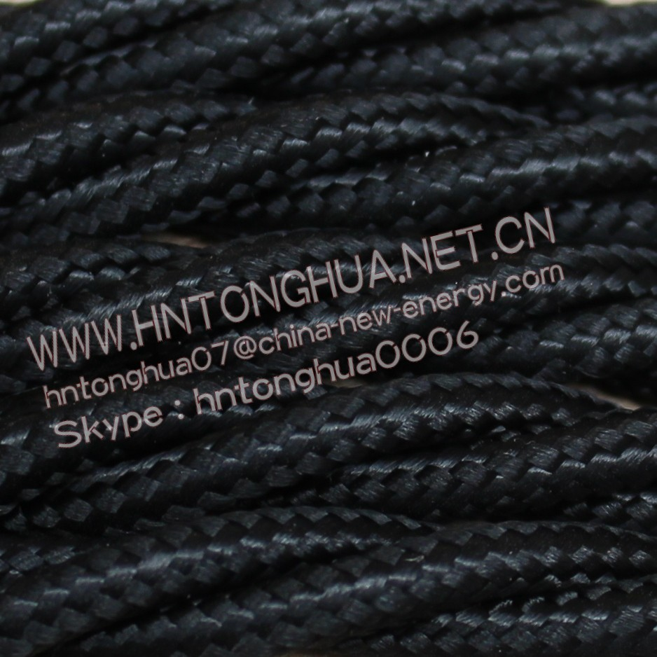 2*0.75 & 3*0.75 Black color Twisted Braided cable Copper Cloth Covered Wire Lighting Flexible Electric Cable VDE CE ROHS