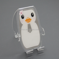 Sweet penguin printed acrylic mobile accessories mobile stand for ring phone