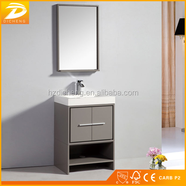 Hangzhou Contemporary 24 Inch Hotel Wholesale Cheap Single Bathroom Vanity