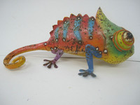 Famous metal sculptures lizard for wall art docor