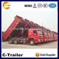 10 wheel heavy duty 6*4 HOWO dump truck with big capacity
