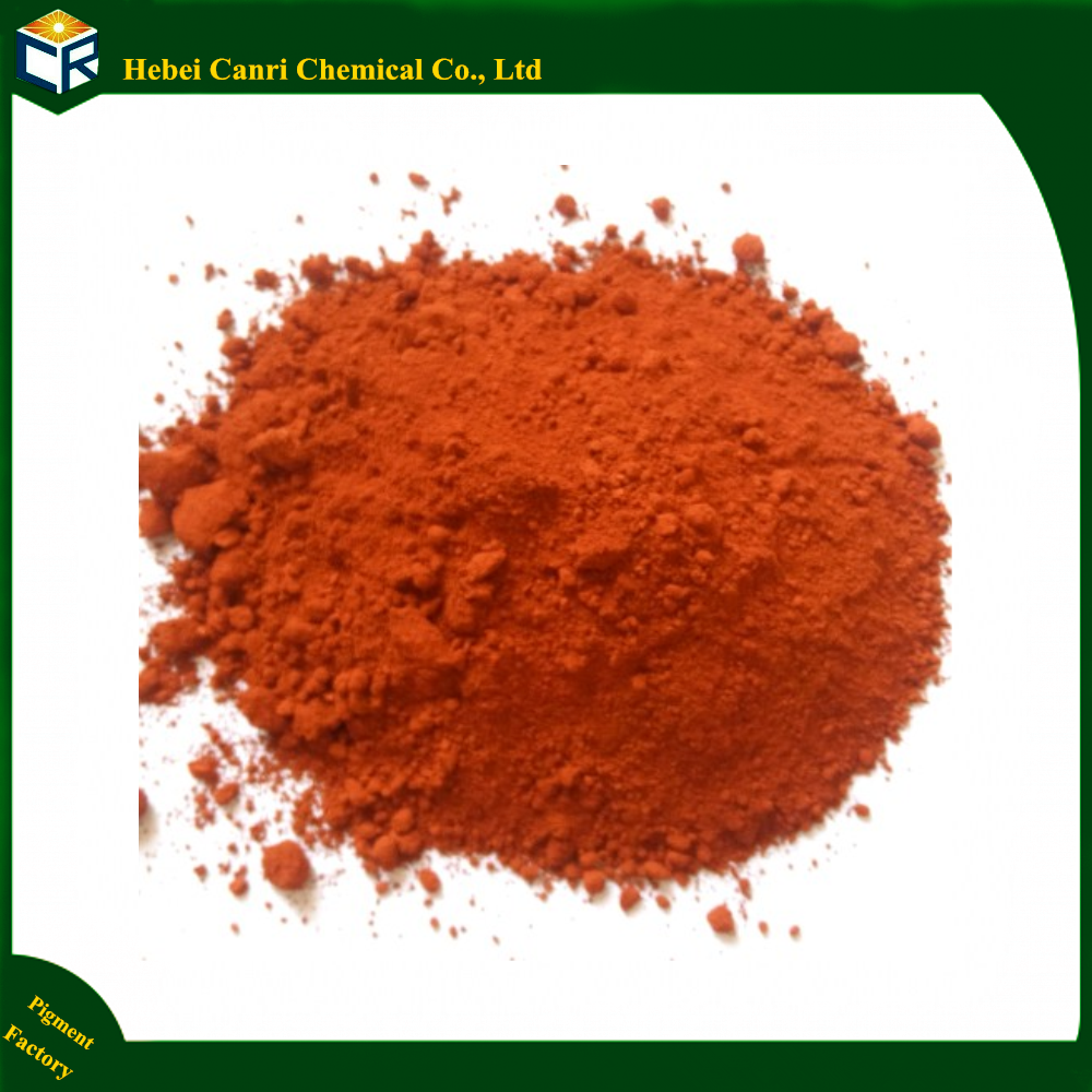 Iron oxide red for acid stain concrete