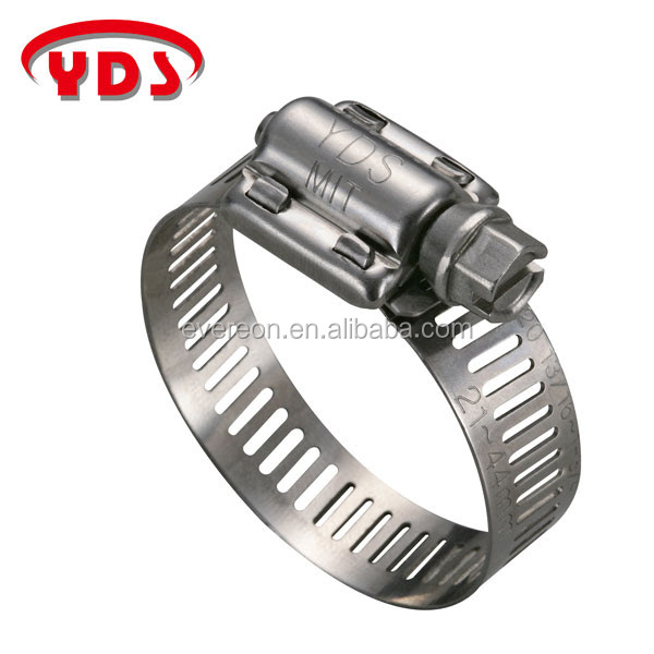SAE J1508 type F American stainless steel hose clamp clip