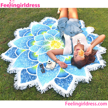Wholesale Custom Large Magic Microfibe Round Beach Towel Fabric