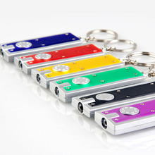 Promotional Mini LED Keychain Flashlight, Ultra Bright Key Ring Light Torch, Batteries Included
