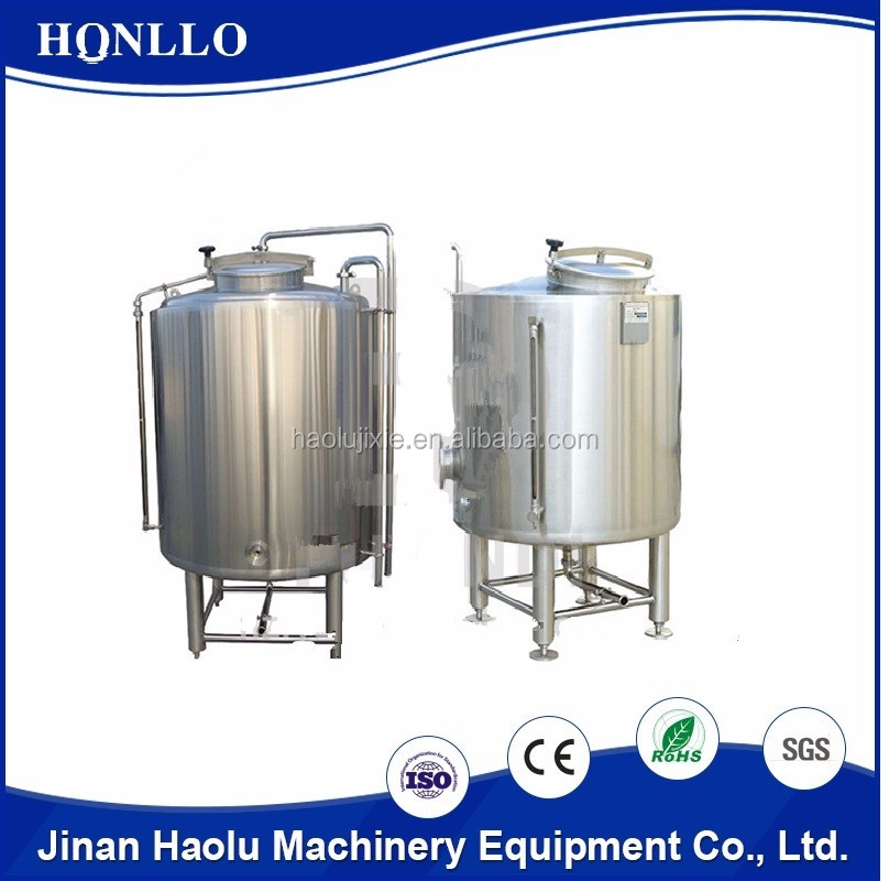 alibaba food grade professional beer brewing hot water tank/brewing equipment