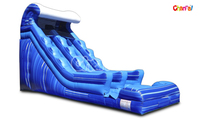 2016 Commercial Giant Inflatable Aqua Wave Waterslide /Inflatable Slide For Adult