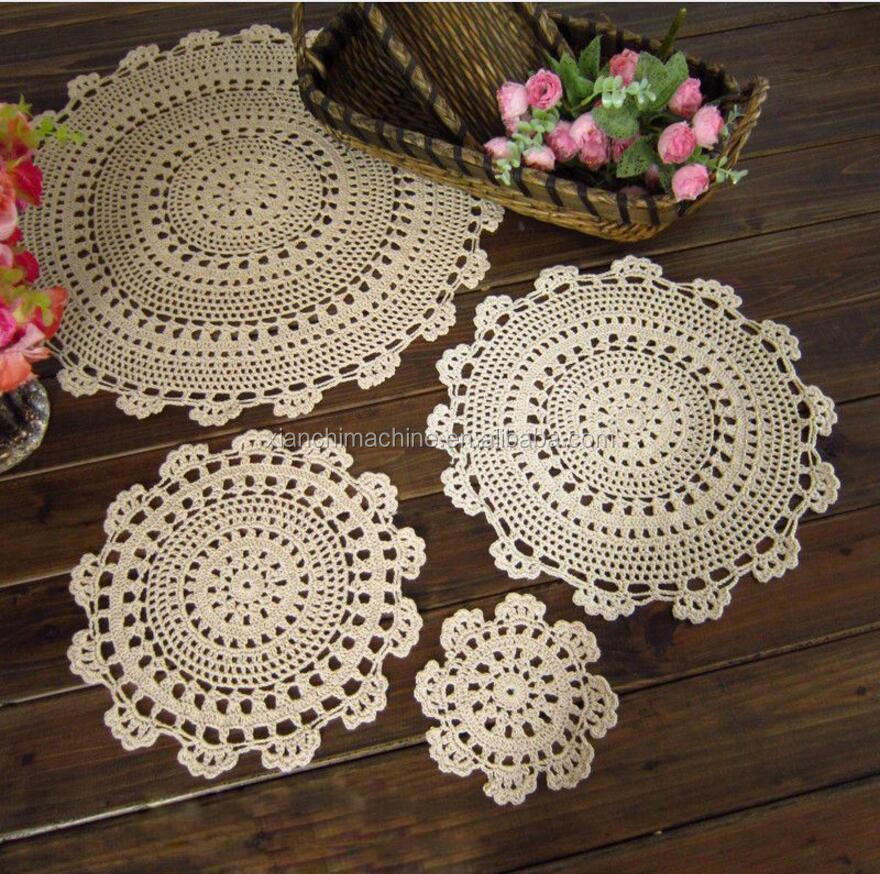 recycled handmade crochet doilies printing paper doilies