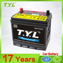 12v60ah guangzhou TYL brand high quality and factory price automobile car battery for sale
