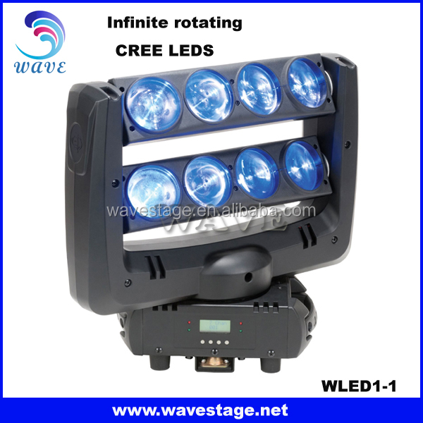 WLED 1-1 New Infinite rotating moving 8x10w spider beam led dj light