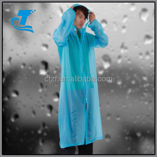Breathable Waterproof Simpale Design Rain Coat