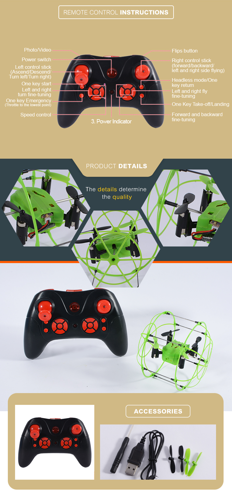 rc quadcopter drone 2.4G 4CH 6-axis gyro ball dron for OEM color