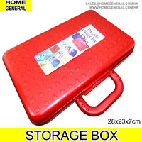 PLASTIC ORGANISER BOX WITH HANDLE, ORGANIZER CONTAINER WITH HANDLE, STORAGE BOX, CRAFT BOX, BEADS ORGANIZER BOX, 2016 HK