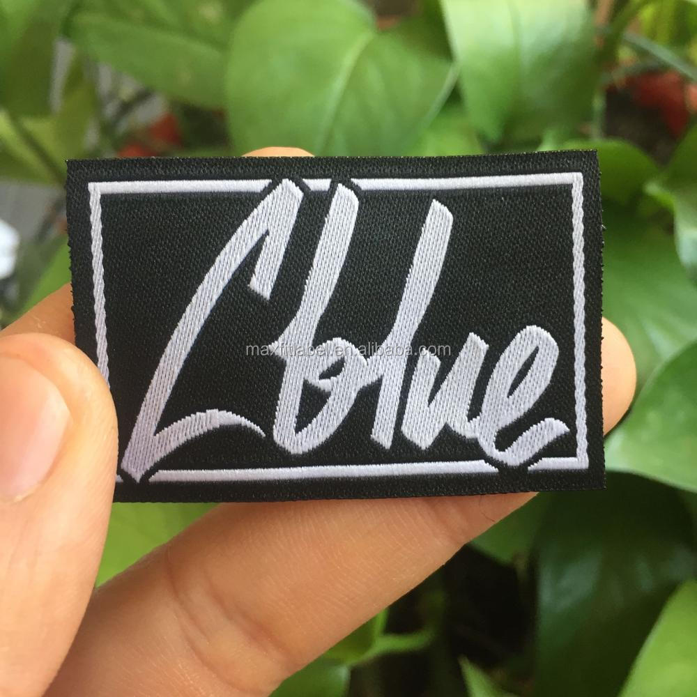 2018 Custom high density damask woven labels for garments