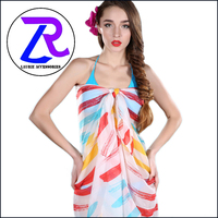 Beach pareo stripe print scarf shawl and scarves low price wholesale