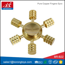 borong factory pure copper finger spinner decompression innovative toys for sale BR-B22