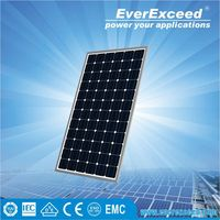 EverExceed Reliable Quality 300w 156*156 Monocrystalline Solar Panel made of Grade A solar cell with tempered glass