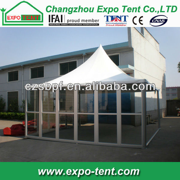 2013 glass canopy pagoda tent